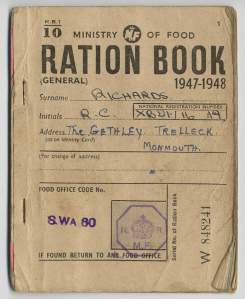 Food Ration Book UK
