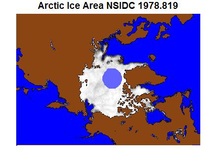 Arctic Sea Ice from 1978 to 2009