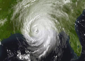 Hurricane Katrina on Aug. 28, 2005 