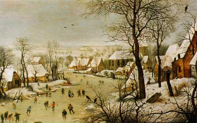 Hunters in the Snow by the Flemish painter Pieter Bruegel the 