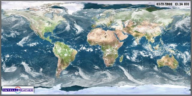 Satellite Image - World mercator projection